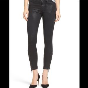 Hudson | NIX Lace Up Cropped Skinny Jeans